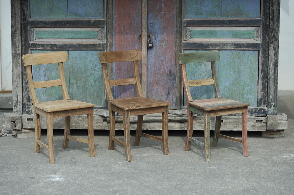 Indonesische Teakholz Stühle aus Holland
