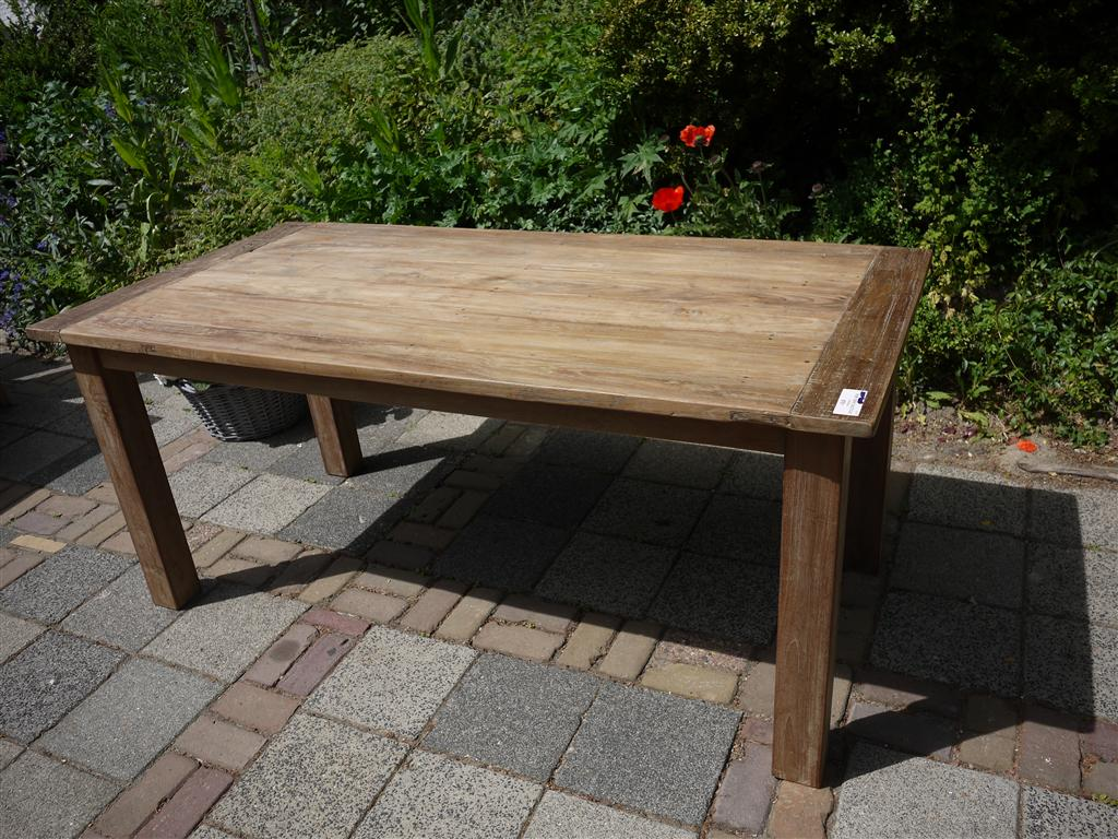 Teak Tisch recycled rustikal